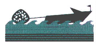 Graphic Of Boat Towing Floating  Reef Ball